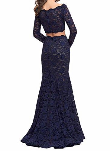 Brautmutterkleider Spitze Burgundy Bodenlang Meerjungfrau mia Braut Ballkleider Abendkleider 2018 La x6qPp4a07n