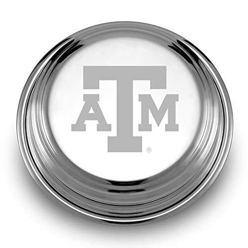 M. LA HART Texas A&M University Pewter Paperweight