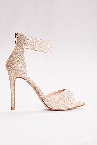 Davids Bridal High Heel Pearl-förskönat Peep Toe Sandaler Stil Aisabella1 Vit