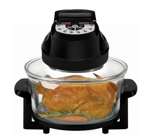 Big Boss Rapid Wave Halogen Infrared Convection Countertop Oven - 12 ½ Quart with Extender Ring Glass Bowl - Digital Presets (Small Appliances Convention Ovens compare prices)