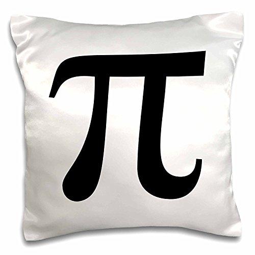OneMtoss Decorative Silk Pillow Cover Pi Symbol Math Sign. Mathematical Black and White Mathematics Number Cushion Case Pillow Case 16X16 ()