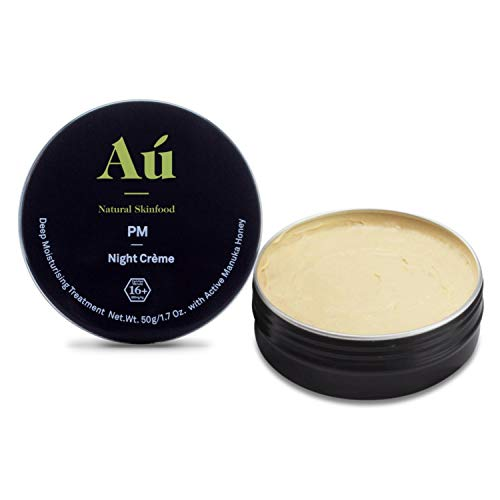 PM Night Crème by Au Natural Skinfood | Deep Moisturizing Cream with Active 16+ Manuka Honey & Bee Venom | Certified | Food For Your Skin | All Skin Types | 1.7 oz