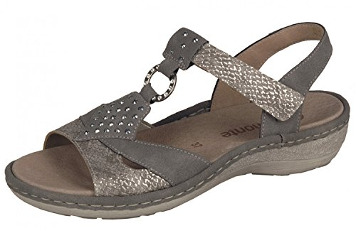 Remonte Mujeres Sandalias gris, (fango-silver/staub) D7668-64 fango-silver/staub