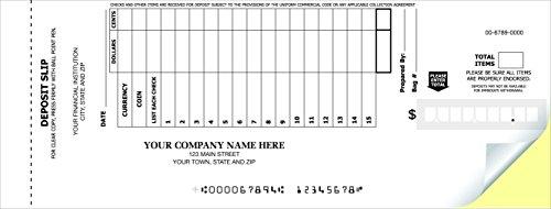 CheckSimple 15-Line Booked Custom (2-Part) Deposit Slips (300 Slips) ()