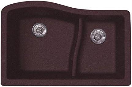 Swanstone QU03322LS.170 Granite Undermount Double-Bowl Kitchen Sink