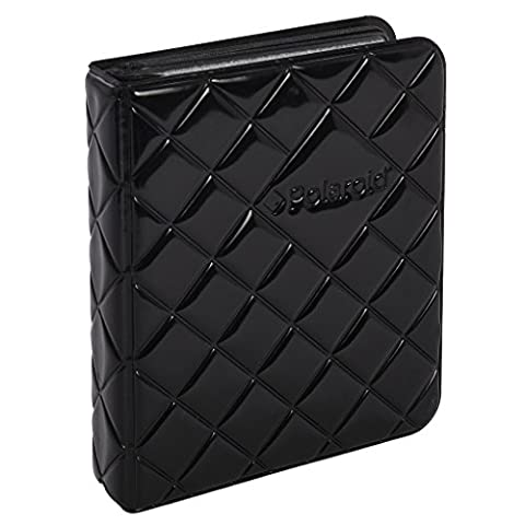 Polaroid 64-Pocket Photo Album w/ Sleek Quilted Cover for Zink 2x3 Photo Paper (Snap, Zip, Z2300) - Black