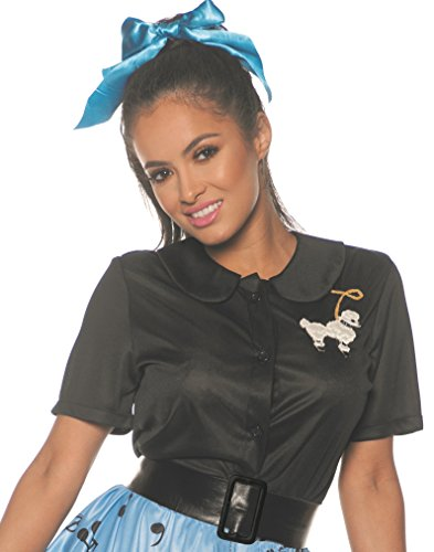 Underwraps Women's 1950's Poodle Shirt Costume-Black,