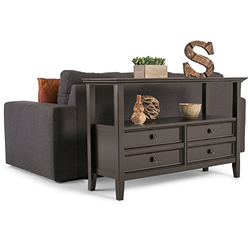 Simpli Home Amherst Solid Wood Console Sofa Table, Dark Brown by Simpli Home (Image #1)