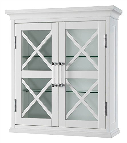 Ridge Blue Furniture (Elegant Home Fashions Blue Ridge 2-Door Wall Cabinet in White)