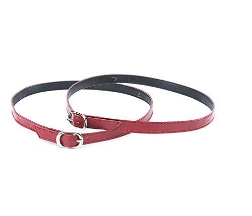 Camix Women's Detachable PU Leather Shoe Straps,High Heels Anti-loose Shoelace Accessories (Detachable Strap)