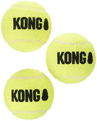 Kong Air Squeaker Tennis Balls 3 piece Size:Medium Pack of 3 (9 balls) (Air Balls Dog Kong)