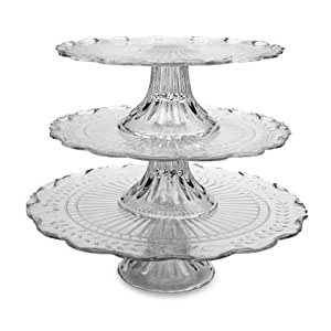 Circleware Maison 3pc Footed Cake Tray