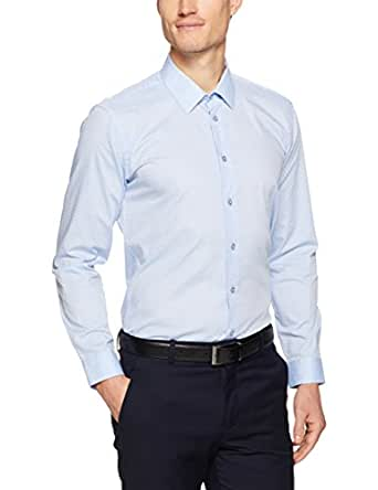 Calvin Klein Men Extreme Slim Fit Shirt, Teal, 41