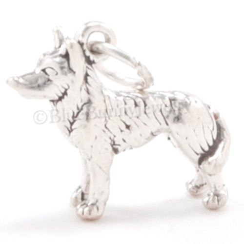 - HUSKY Charm Pendant Dog Alaska Sled Solid Sterling Silver Nice detail 3D 925 Jewelry Making Supply Pendant Bracelet DIY Crafting by Wholesale Charms