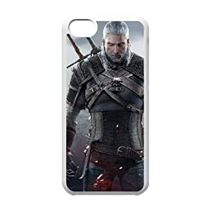 the witcher 3 wild hunt video game iPhone 5c Cell Phone Case White custom made pgy007-9004620