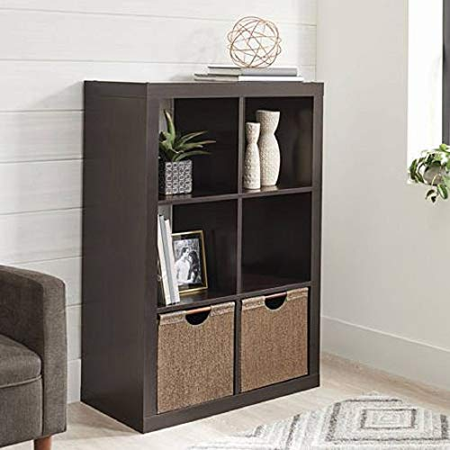 Better Homes and Gardens.. Bookshelf Square Storage Cabinet 4-Cube Organizer (Weathered) (White, 4-Cube) (Espresso, 6-Cube) from Better Homes and Gardens..