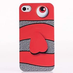 El rostro Goldfish Patrón del ABS de nuevo caso para el iPhone 4/4S