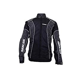 SEELSS Motorcycle Riding Protective Jacket – (Black, 14025, Large)