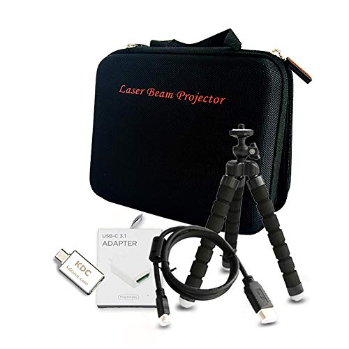 Accessory for Laser Beam Pro C200 Projector Accessories - Customized Carrying Bag, Certified Micro HDMI to HDMI Cable, HDMI to USB-C Adapter, Flexible Tripod C200 Stand (Basic Accessory Sets)