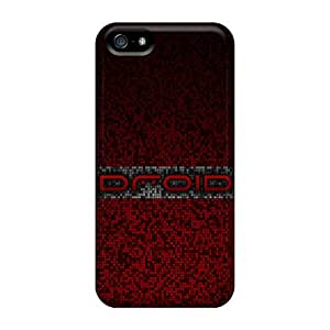 LJF phone case Bernardrmop Design High Quality Droid Red Gray Pixel Cover Case With Excellent Style For Iphone 5/5s