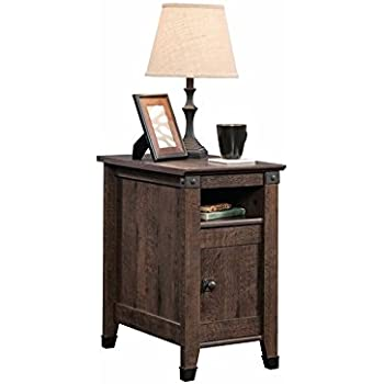 Sauder 420422 End Table, Furniture Carson Forge Coffee Oak Side