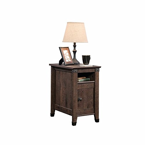 Sauder Carson Forge Side Table, Coffee Oak finish (Sale Tables For Industrial)