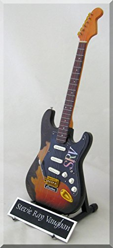 STEVIE RAY VAUGHAN Miniature Guitar SRV Custom w/Name Tag by ARTSTUDIO35