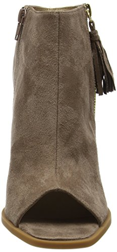 Boohoo Peep Toe Cut Out Heeled Boot WZZ01754, Botas Mujer Beige (Taupe Suede)