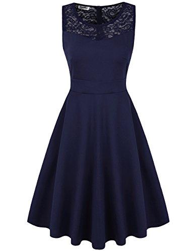 navy sleeveless dress - 4