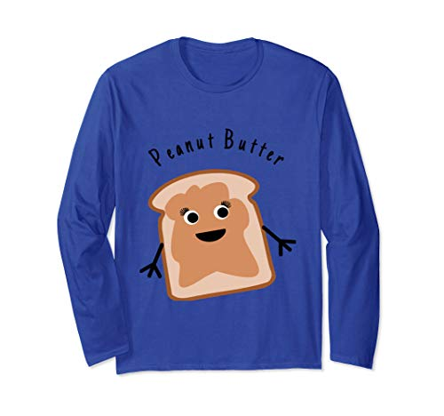 Peanut Butter Matching Halloween Costume Jelly DIY Shirt Long Sleeve T-Shirt -