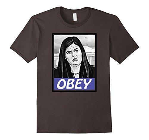 Mens Sarah Huckabee Sanders Free Press Anti Trump Tee Shirt Large Asphalt