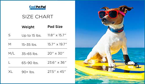 The Green Pet Shop Dog Cooling Mat- Patented Pressure-Activated Cool Gel Pad for Your Dogs and Pets - Help Your Pet Stay Cool This Summer - Chilled Relief to Avoid Overheating, Ideal for Home & Travel, Medium/Large