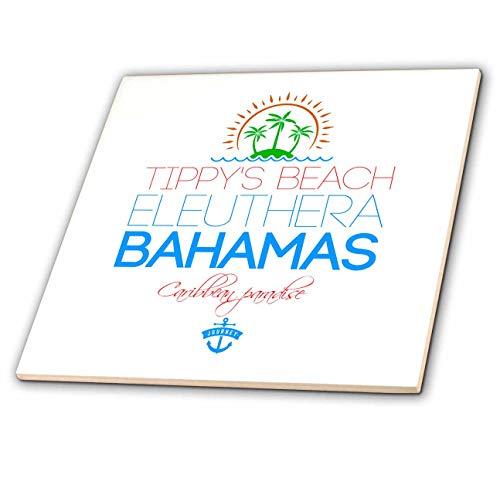 Eleuthera Floor - 3dRose Alexis Design - Caribbean Beaches Bahamas - Tippys Beach, Eleuthera, Bahamas. Summer vacation fine gift, souvenir - 12 Inch Ceramic Tile (ct_318389_4)