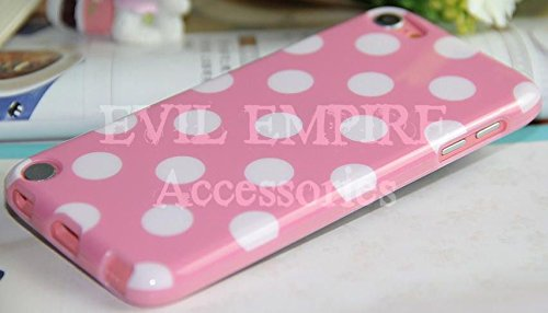 EEA Silicone TPU Polka Dot Case Skin Cover for iPod Touch 5 5th Generation (Light Pink) (5 Polka Ipod Touch Dot)