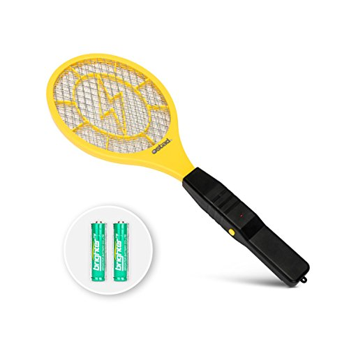 Electric Fly Swatter, Bug Zapper Battery Powered for Mosquito, Flies Killer for Pest Control Indoor and Outdoor, 3000 Volt Power and Triple-Layer Safety Mesh, Bug Zapper Racket Insect Killer