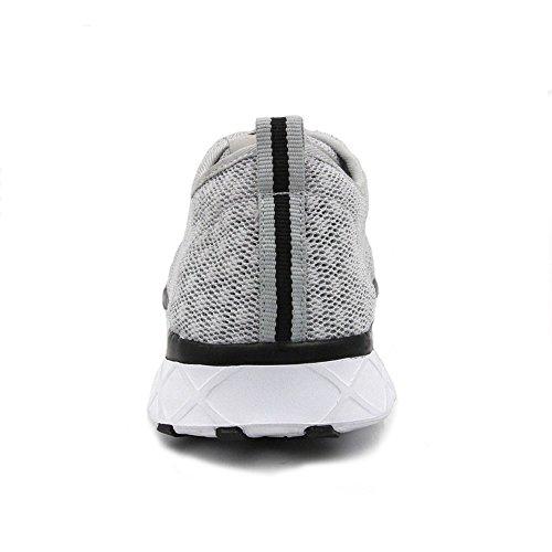 Amoji Unisex Wasser Aqua Schuhe sportliche Turnschuhe Grau