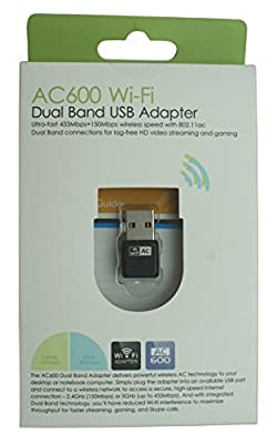 AHP Dual Band 600mbps USB WiFi Adapter 802.11 ac for Lag-Free HD video streaming and gaming
