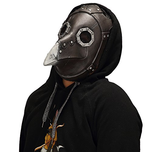 Mo Fang Gong She Halloween Cosplay Steampunk Gothic Retro Plague Beak Doctor Bird Horror Mask ()