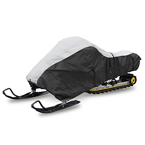 Pyle Universal Snowmobile Cover with Dual Air Vents, Heavy Duty Fabric, Non-scratch Hood Liner & Full Tank Door Access - Waterproof Marine Grade Protection Against Mildew & UV Damage - PCVSNMEX18 (Hood Snowmobile)