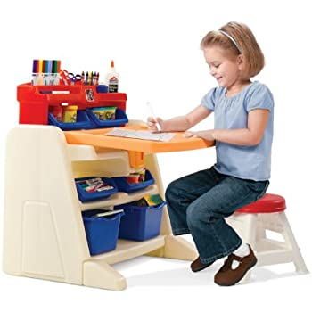 Delicieux Step2 Flip And Doodle Easel Desk With Stool