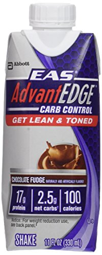 EAS AdvantEdge Carb Control Ready-to-drink Shake, Chocolate Fudge,  11 oz., 18 Count