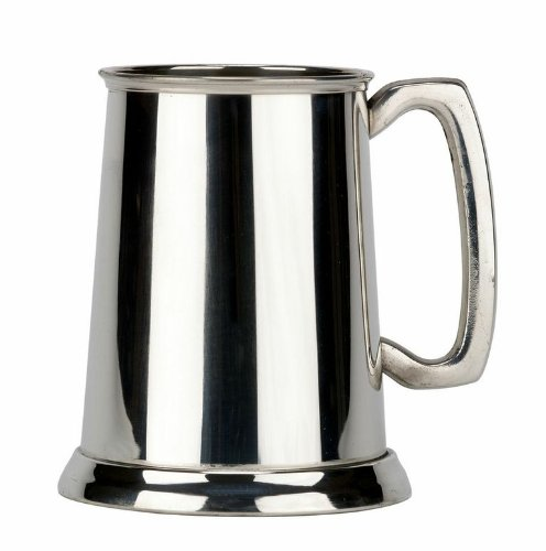 Friary Plain Glass Bottom Fine English Pewter Tankard Beer Mug Made in England