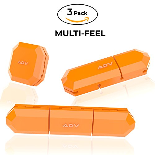 ADV Tennis Vibration Dampener | Set of 3 | Ultimate Shock Absorbers for Racket and Strings | Premium Quality, Durable, and 100% Reliable | Newest Technology (Orange) (Absorber Dampers Shock)