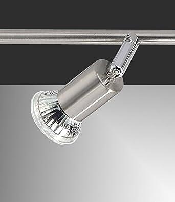 Carrefour 174559 Interior GU10 3W Acero inoxidable punto de iluminación - Punto de luz (Interior, Surfaced spot, Salón comedor, Entrada, Cocina, Salón, ...