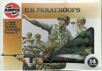 Airfix 51644 scale 1 32 US PARATROOPS Figures series 2 vintage anni 70