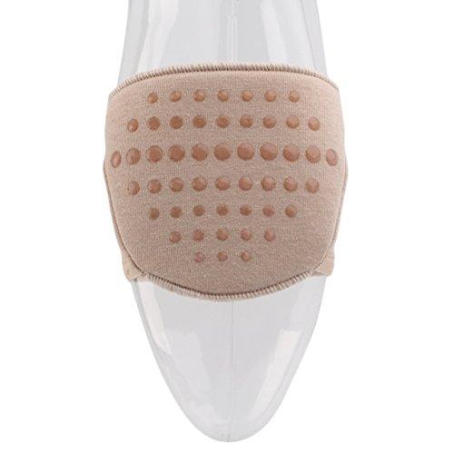Revestimiento los Tacón Pies Cuidado de Pies de Media Herramienta Zapatos de Albaricoque los Medio Cuidado Amortiguador de de 1 para de Plantilla de Almohadillas UNIDS Zapato 0SwxqgTg