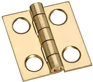 """Stanley Hardware CD5301 3/4"""" Solid Brass Middle Hinge in Bright Brass"""
