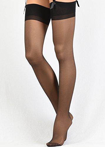 13b540fa9 Thigh High Stockings for Garter and Suspender Belts Veneziana Sheer