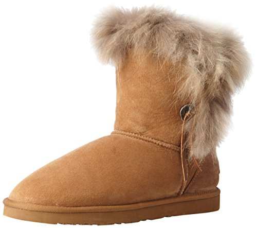 Koolaburra Women's Trishka Short Fur Snow Boot - Chestnut...
