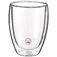 Bodum Pavina Double Wall Glass, Medium, 12-Ounce, Clear Set of 2